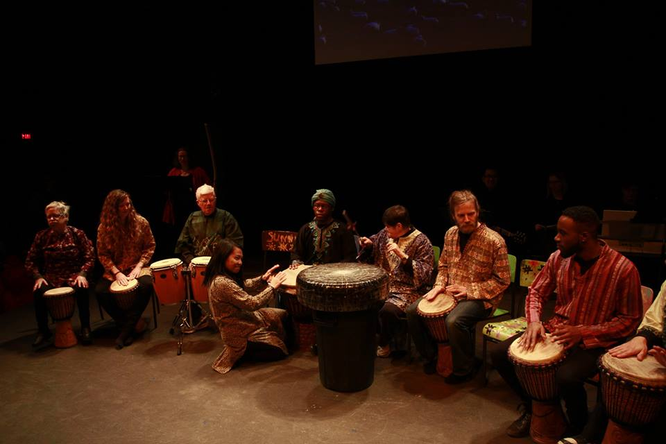 The 4th Wise Man joins in for a drumming circle in The Gift 2018.